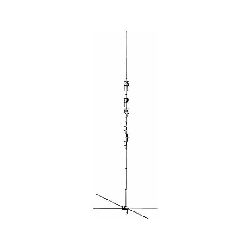 Hy-Gain DX-77A Vertikalantenn, 10-40 m, 1500 W
