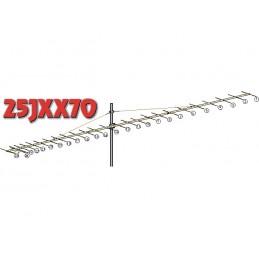 25JXX70, 25 element yagi  70cm