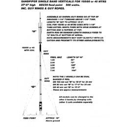 Sandpiper V27.5 40m vertikal antenn 8.5m