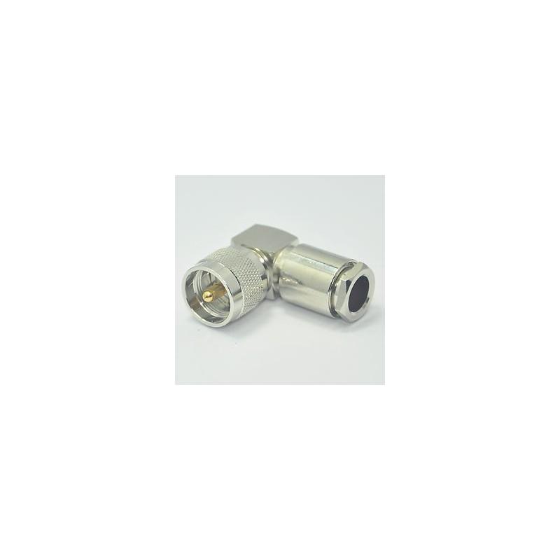 Kontakt PL-259 vikel för RG-213