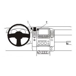 Brodit Proclip - Center mount, Nissan Navara 06-10