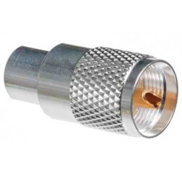 PL-259/9mm för RG-8/213 Silver