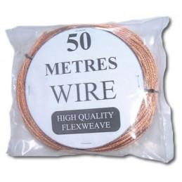 Antennwire, koppartråd, 2mm, 50m