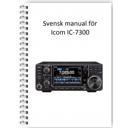 Icom Ic-7300 Svensk manual