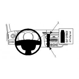 Brodit Proclip Center Nissan NV400 12-17