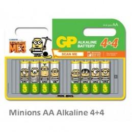 Batterier GP 8st AAA Minions