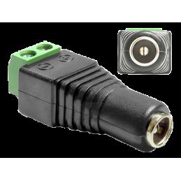 Adapter DC 5,5mm 4-pins till Terminal Block