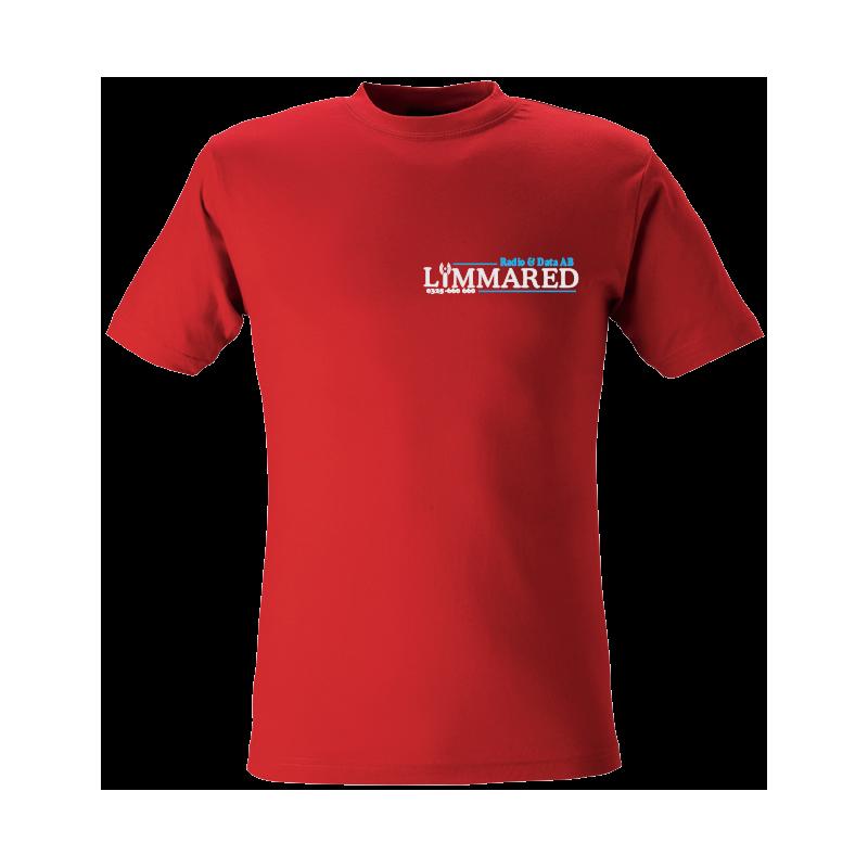 Röd T-shirt med logga