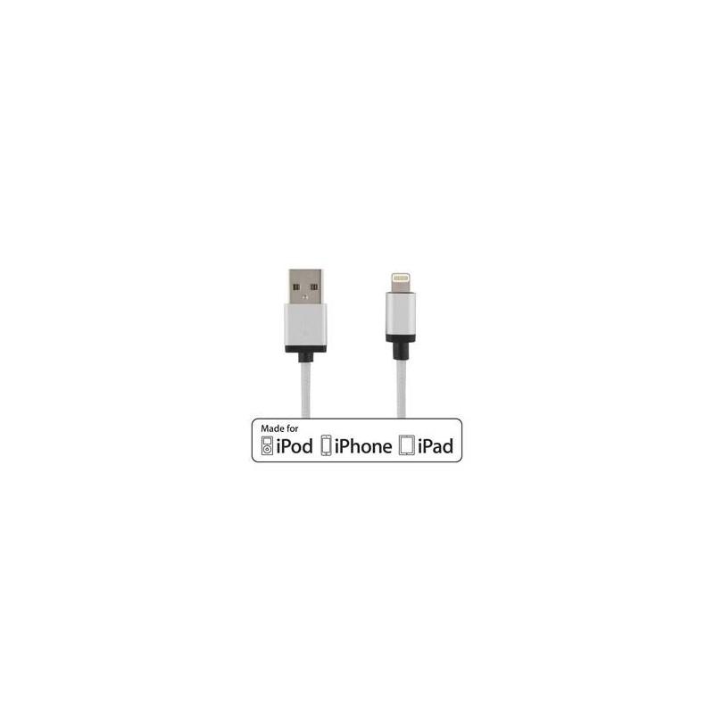 Deltaco Prime USB-Lightning 2M Silver - Limmared Radio   Data AB a2ca78c86a93f