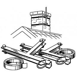 Skorstensfäste för 32-50mm rör