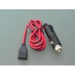 DC-Kabel med Ciggplugg
