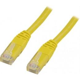 Nätverkskabel Cat6 1m gul