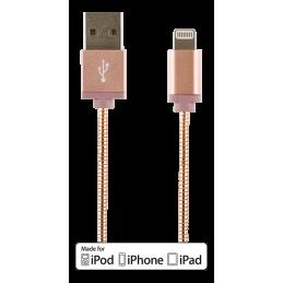 Laddarkabel Iphone/Ipad/Ipod 1M Rosé