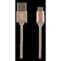 Laddarkabel USB-MicroB 1M Rosé