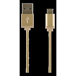 Laddarkabel USB-MicroB 1M Guld