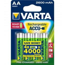 Batteri Uppladdningsbart AA 4-pack