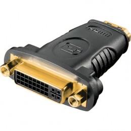HDMI-adapter, HDMI 19-pin hona till DVI-D hona, guldpläterade kontakter