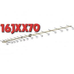 16JXX70, 16 element yagi  70cm