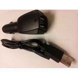 Laddkabel för bil, passar UV-3R & UV-X4, dubbla USB
