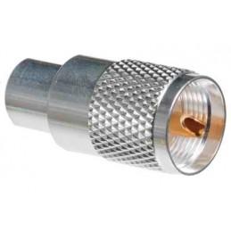 PL-259/6mm för RG-58 Silver