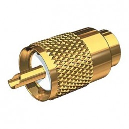 Connector PL 259/6mm gold...