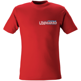 Red T-shirt with logo