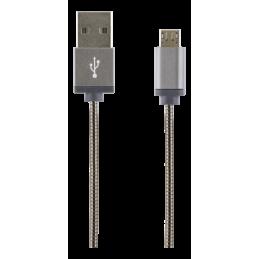 Laddarkabel USB-MicroB 1M...