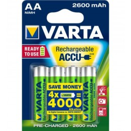 Battery Rechargeable AA 4-pack