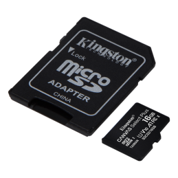 Kingston Canvas Select Plus MicroSDHC Memory Card, 16GB, Class 10