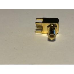 SMB Male angled PCB mount