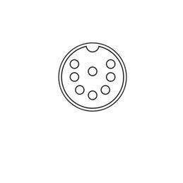 Din 8-pol 262° horseshoe